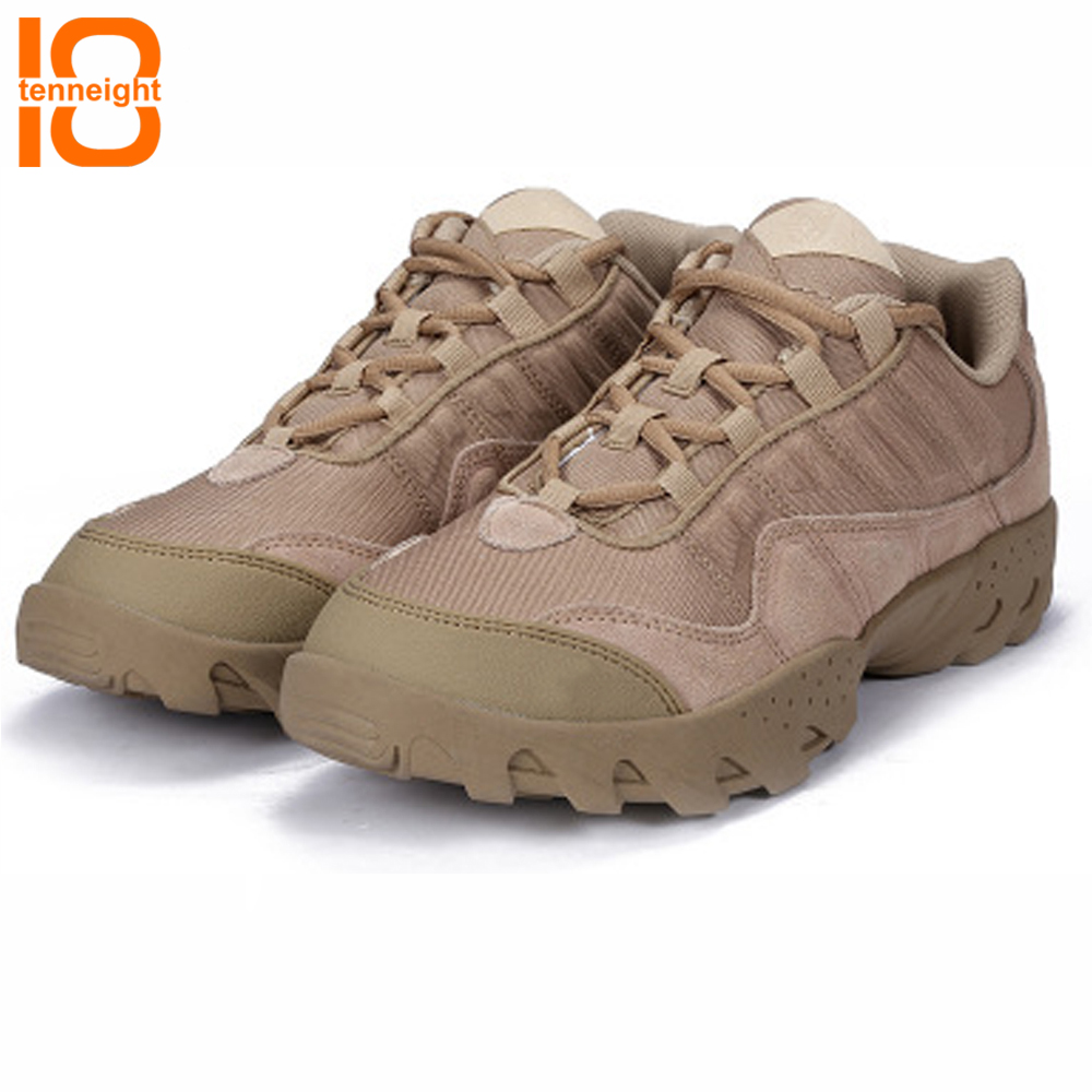 цена на TENNEIGHT outdoor hiking shoes men Army Boots breathable waterproof Desert Training Sneakers tactical shoes sports shoes men