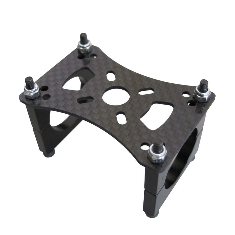 3K Carbon Fiber Motor Mount set Holder Clamp for 16mm 22mm 25mm Pipe Arm Tube Quadcopter Hexacopter Multirotor DIY carbon fiber telescopic tube clamp house pipe clamp d30mm horizontal folding tube clamp uav arm tube set cnc aluminum alloy
