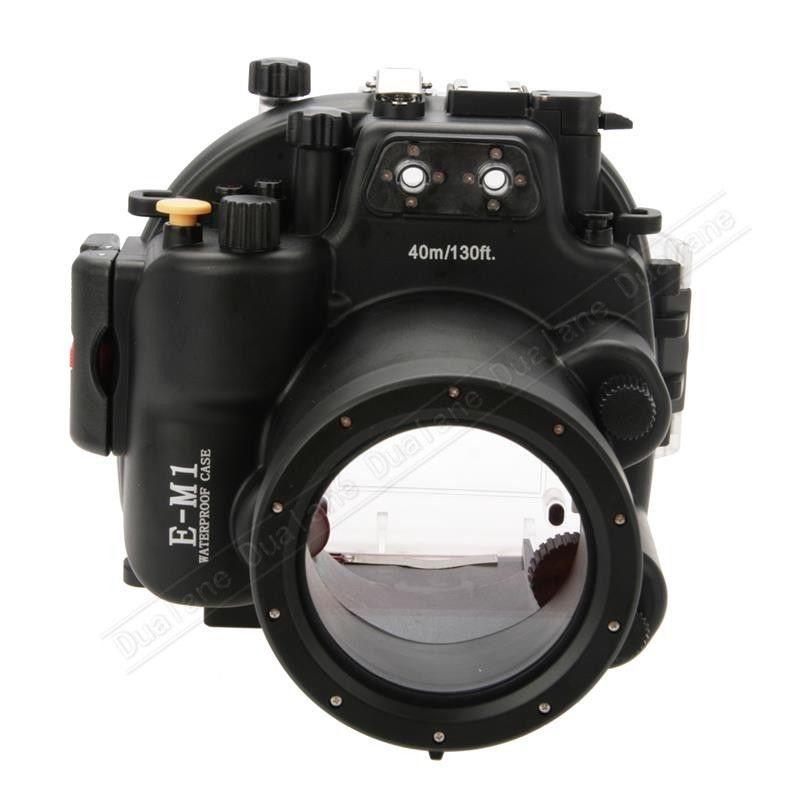Waterproof Underwater Housing Camera Diving Case for Olympus EM1 E-M1 12-40mm len
