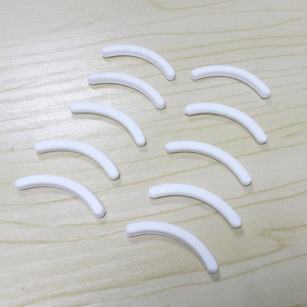 10PCS Replacement Eyelash Curler Refill Rubber Pads Curling Styling Makeup Beauty Tools White