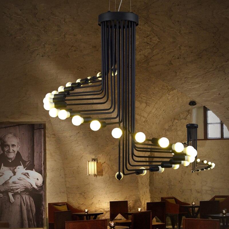 Große Pendelleuchten Vintage Industriebeleuchtung Modern Art Deco - Innenbeleuchtung - Foto 2