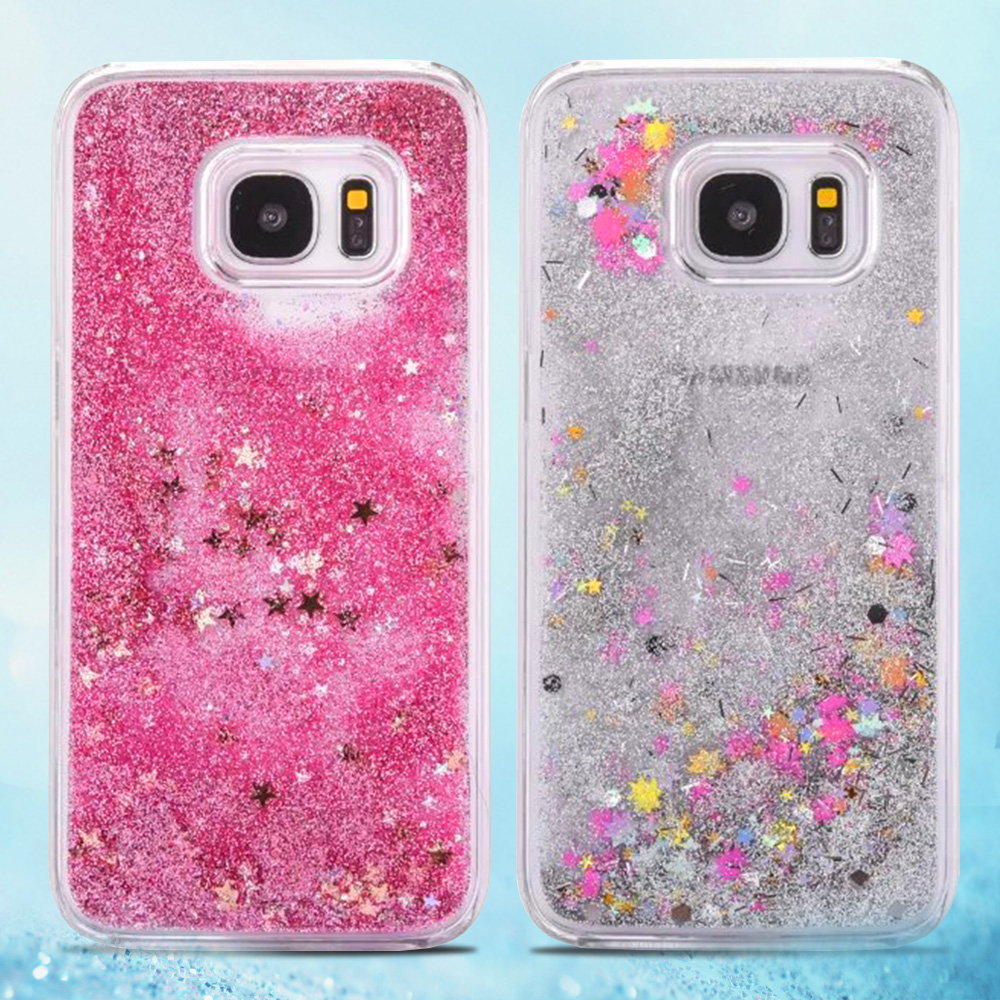 For Samsung Galaxy S7 Case Glitter Liquid Star Quicksand ...