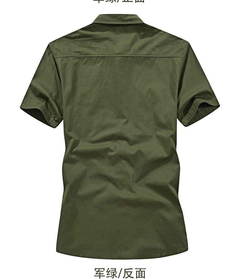 6XL Militaire Zomer Cargo Shirt Mannen Korte Mouw 2019 Katoen Leger Shirt Mens Casual Shirts Tactische Mannen Shirt Chemise Homme plus