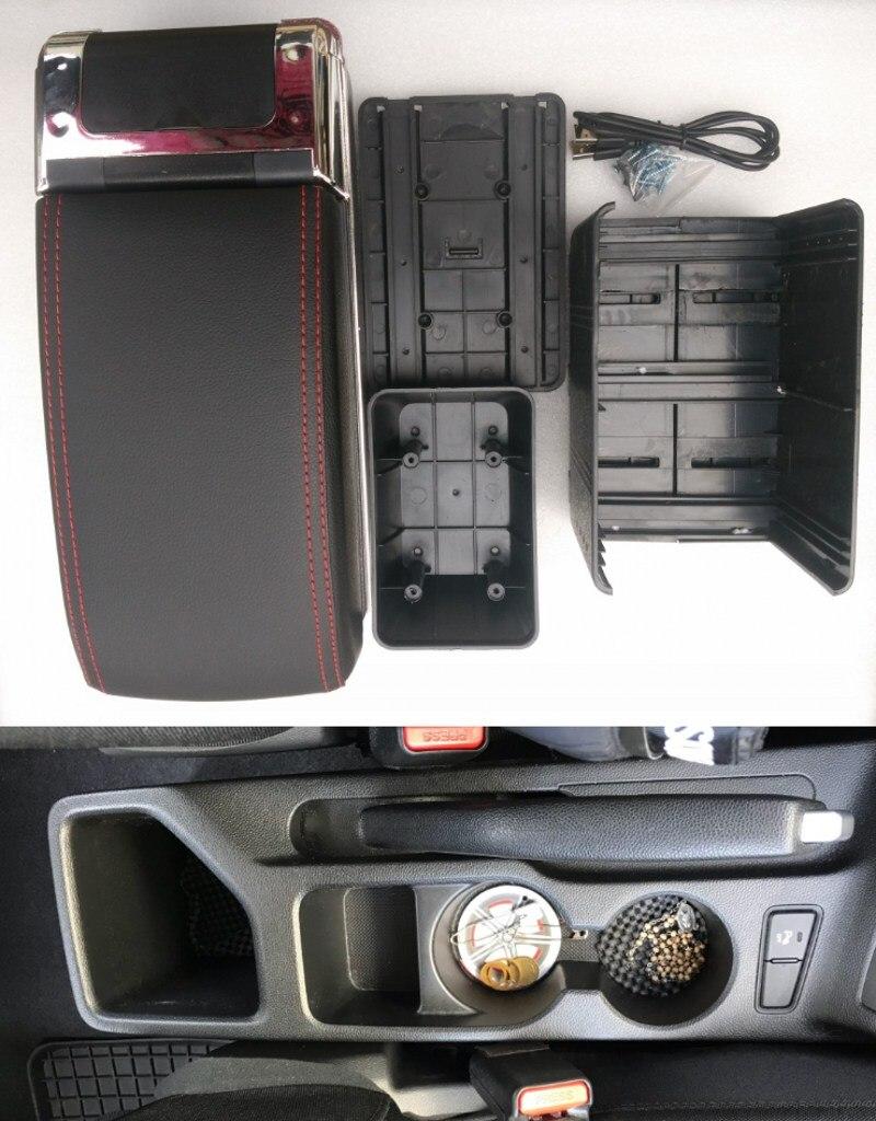 Подлокотник для Hyundai I20, центральный ящик для хранения вещей, подлокотник hyundai с подстаканником, пепельница, интерфейс USB