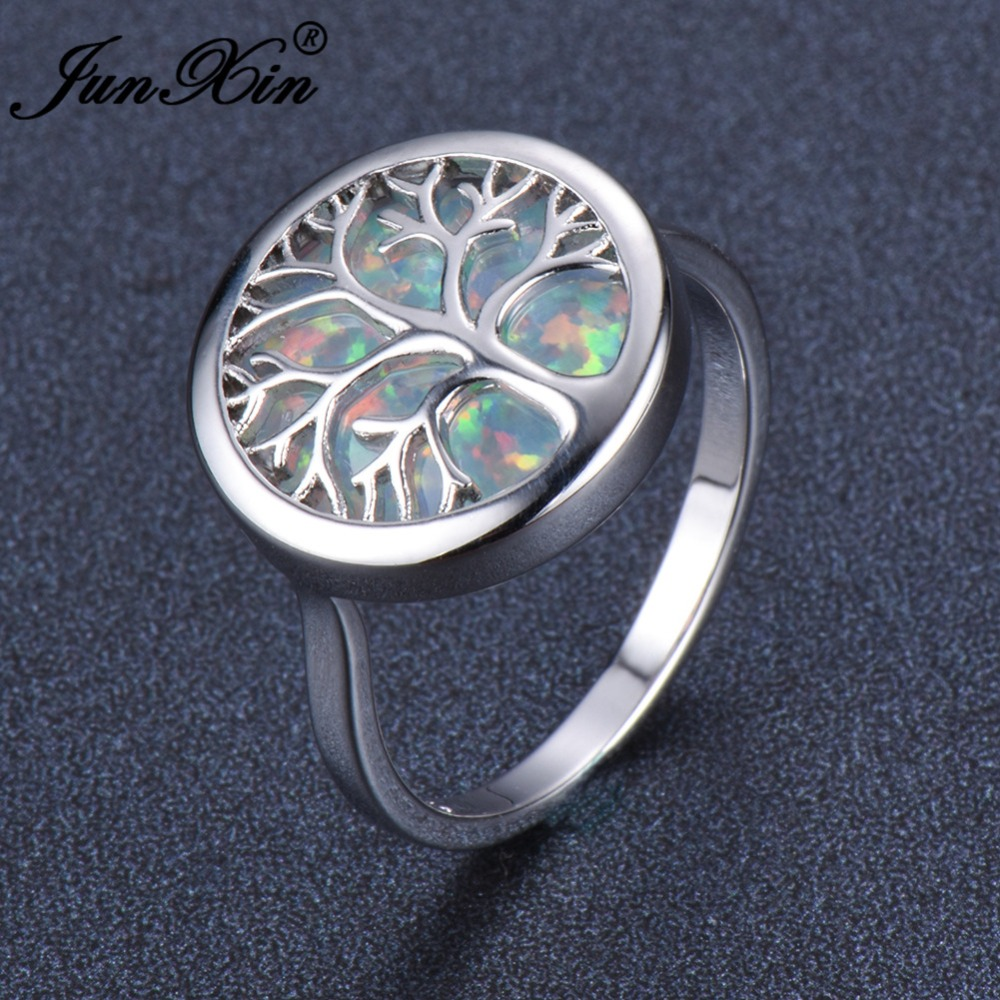 New 925 Sterling Silver Filled Tree of Life Wedding Engagement Band Ring Gift
