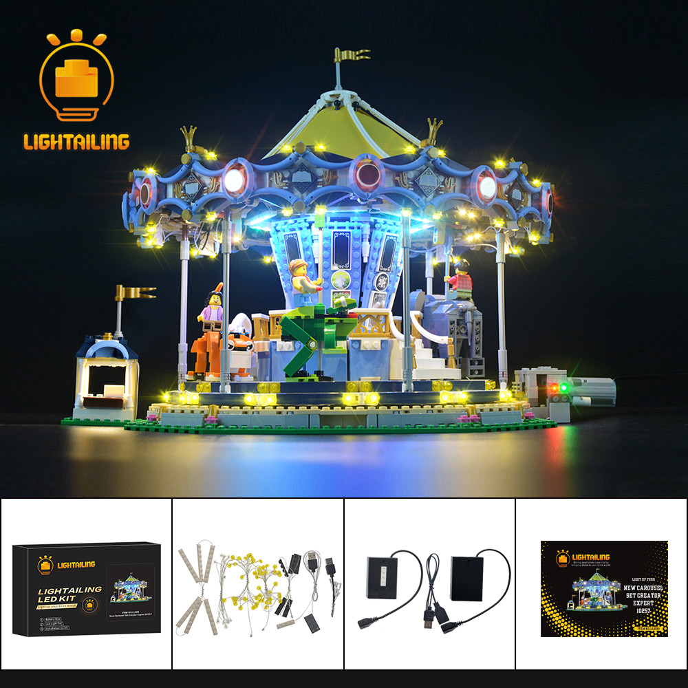 LIGHTAILING LED Light Kit For Creator Expert The New Carousel  Light Set Compatible With 10257 (NOT Include The Model)