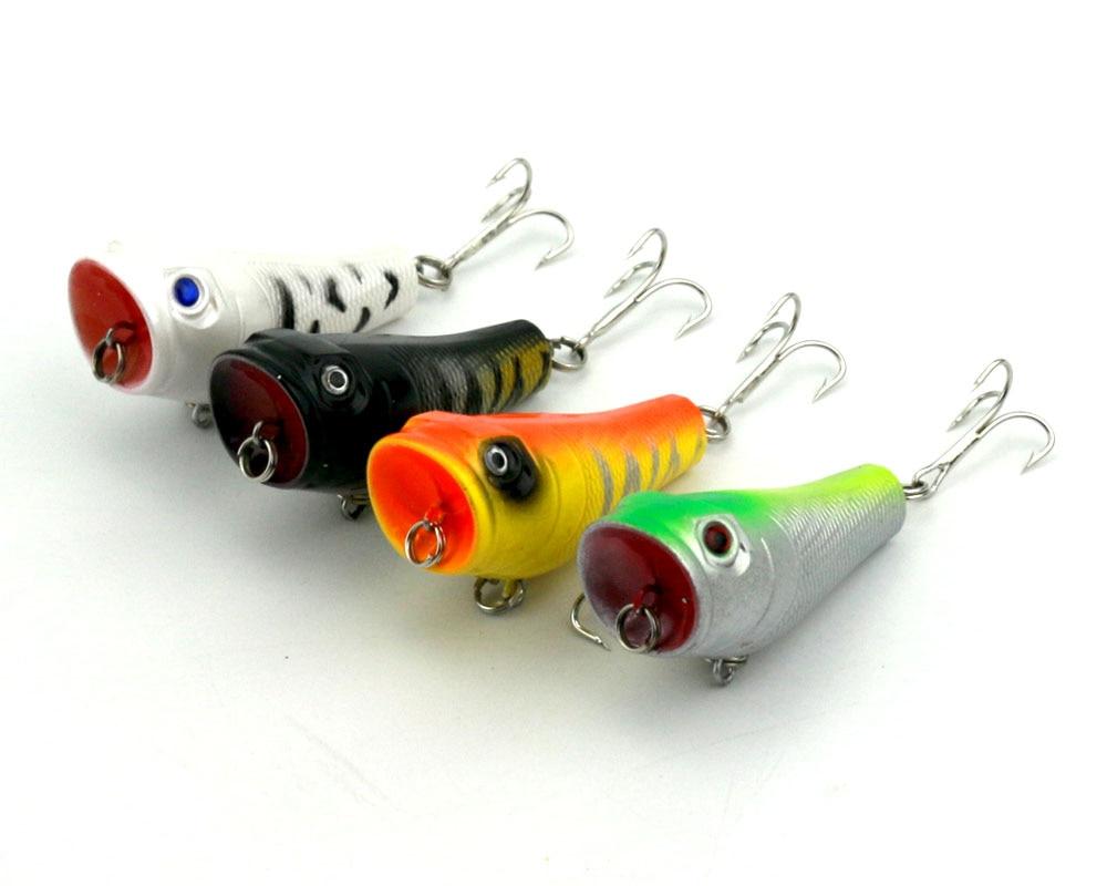 4Pcs Popper žvejybos įrankis 5cm 8g Lifelike Hard Lure - Žvejyba - Nuotrauka 2