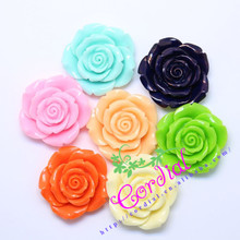 Cordial Design 50Pcs/Lot 42MM Link For Choose Mix Colors Chunky Resin Rose Flower Beads Bubblegum DIY Jewelry CDWB-510093