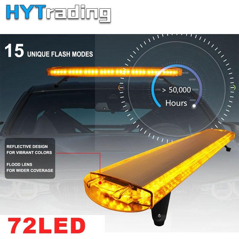 High Light 38 72W 72 LED Work Lights Emergency Recovery Beacon Wrecker Flashing Strobe Light Bar