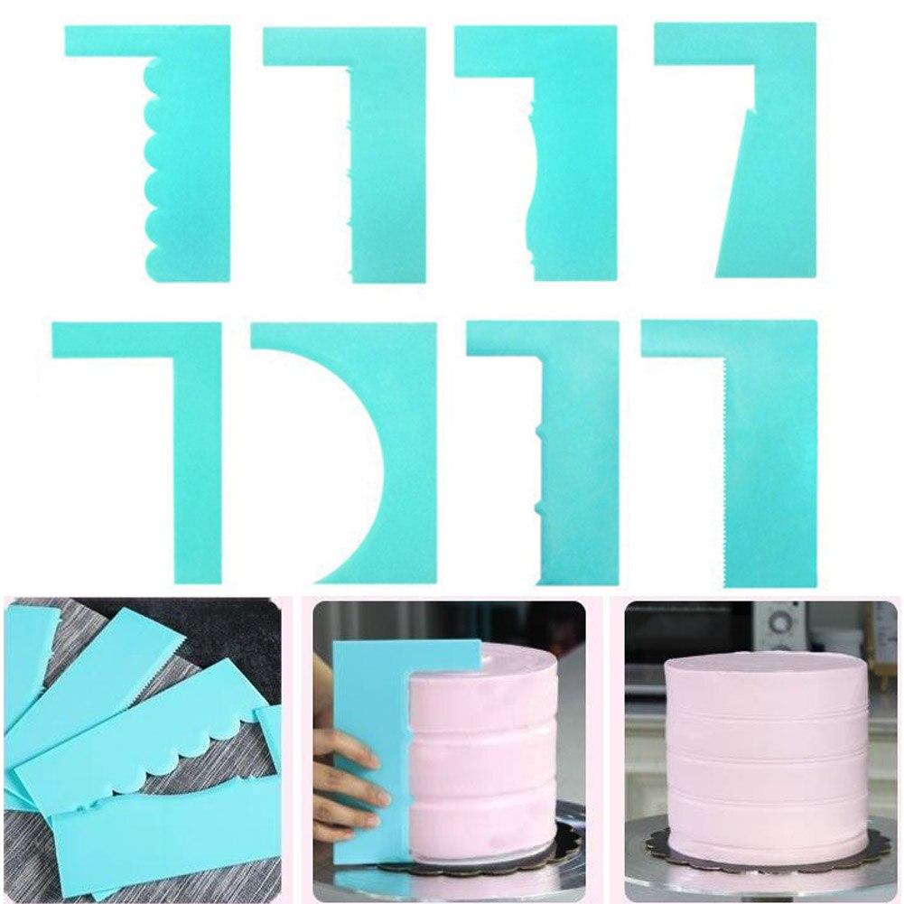 Cake Scraper Cake Decorating Tools Colorful Multifunctional Cake Mold Tools Irregular Teeth Edge DIY Cream Scraper Drop Shipping
