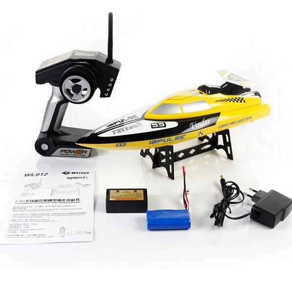 все цены на  2014 New cheap Remote Control Toys WL912 2.4G 4CH water cooling RC Boat Toy 24kM/H VS FT007 FT009 Wl911 Wl912 UDI001  онлайн