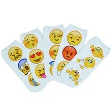 New 3D Emoji Socks Women Fashion Single Side Printing Men women Cotton Socks Unisex Socks Pattern Funny Low Ankle Socks