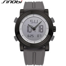 SINOBI Cool Black Mens Fashion Large Face LED Digital Swimming Climbing Outdoor Man Sports Watches Christmas