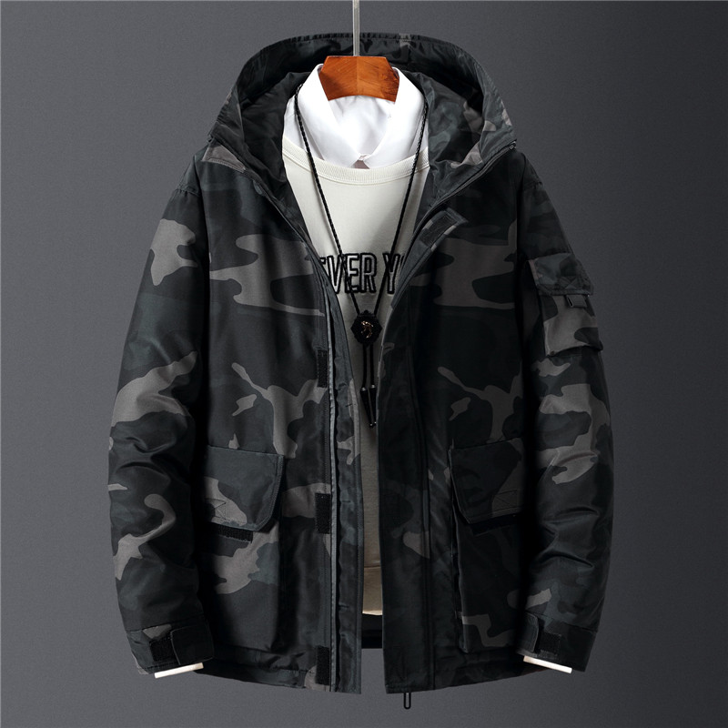 Fashion Men's Winter Jackets & Coats Loose Hip Hop High Street white duck down jacket men Windproof Warm Overcoat 3XL