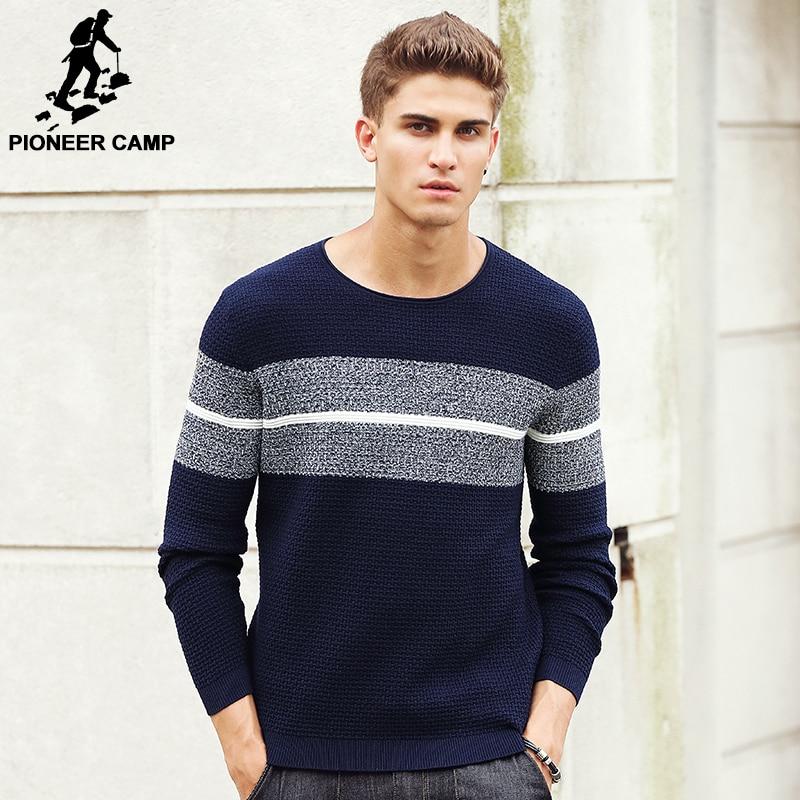 Пионерский лагерь 2018 Новый Демисезонный брендовая одежда Для мужчин Свитеры для женщин Пуловеры для женщин Вязание модельер Повседневное человек трикотаж 611201