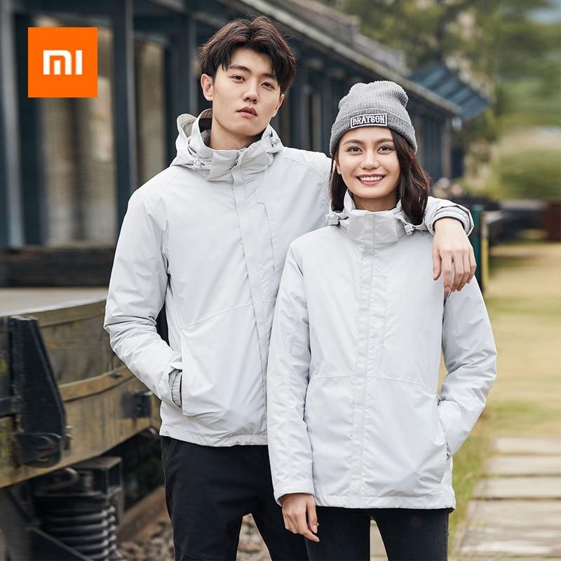 Xiaomi 3-in-1 Travel Down Jacket Waterproof Bomber Men Women Couples Jacket Coat Windbreaker Jackets Hooded Hip-hop Streetwear