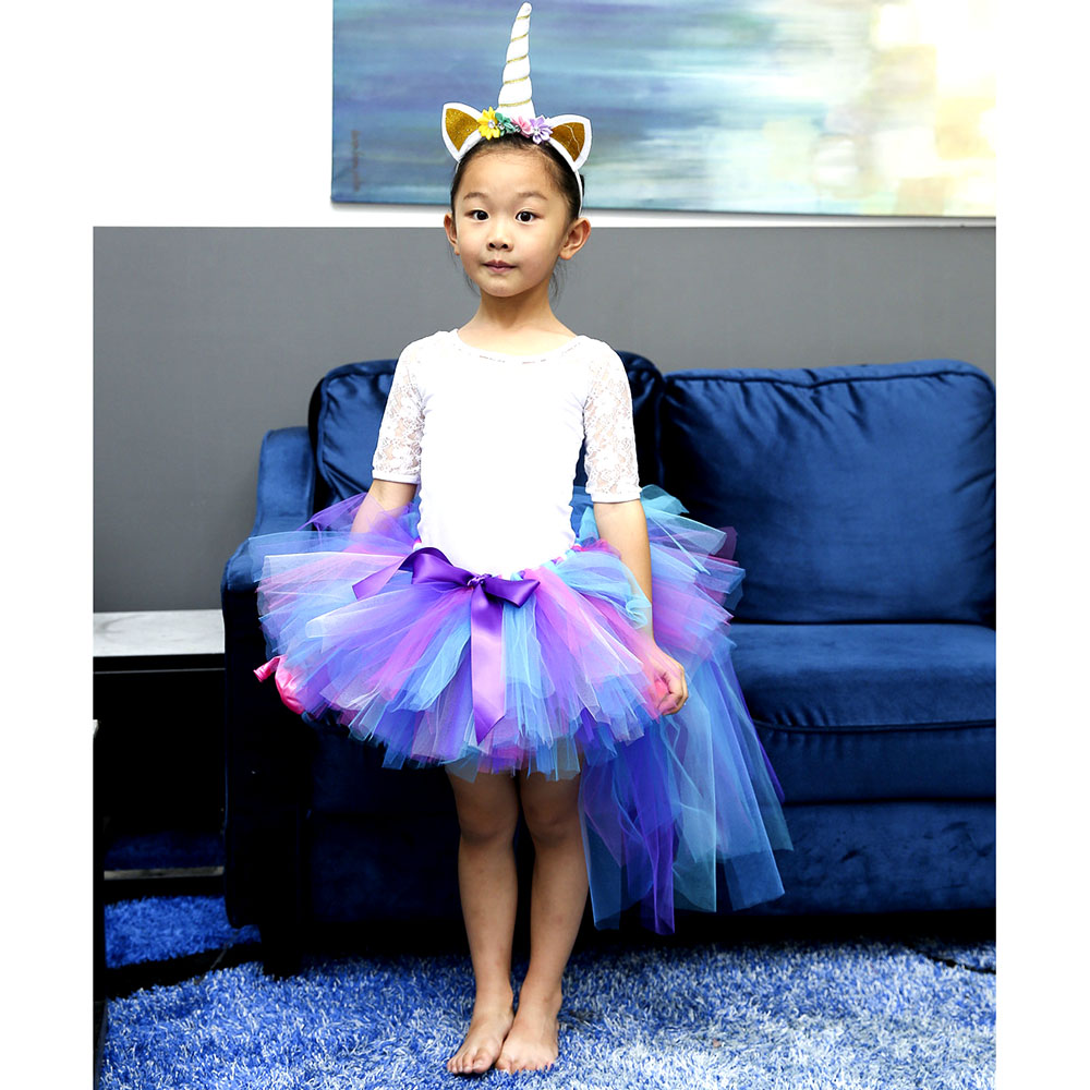 2b2f60ca7a Baby Girl Pony Tutu Skirt Children Fluffy Ballet Trailing Tulle Tutu Skirts  Princess Birthday Party Pettiskirt For Holidays-in Skirts from Mother & Kids  on ...
