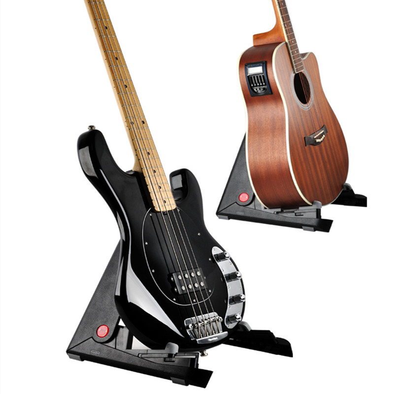 Collapsible Iron Tripod Guitar Stand With Protective