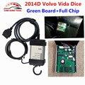 DHL Free For Volvo Vida Dice 2014D Full Chip OBDII Diagnostic Tool For Volvo Dice Pro Multi-language Vida Dice Green PCB Board