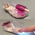 (Con LED) Helado VIII Mini MELISSA ARANHA Niñas Sandalias Sandalias de La Jalea de Melissa Zapatos de Flash de Emisión de Las Sandalias de Los Niños LED
