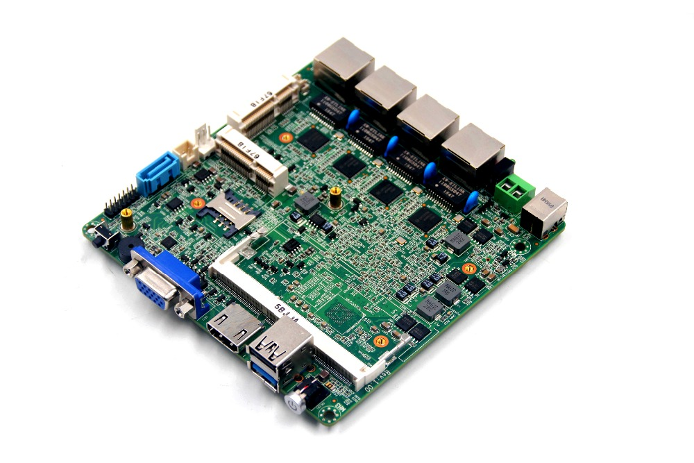 12*12cm Mini Thin 4 Lan Port Firewall Motherboard with Intel celeron 2.0ghz j1900 Processor cheap intel celeron j1900 220v all in one pc motherboard for vending machine