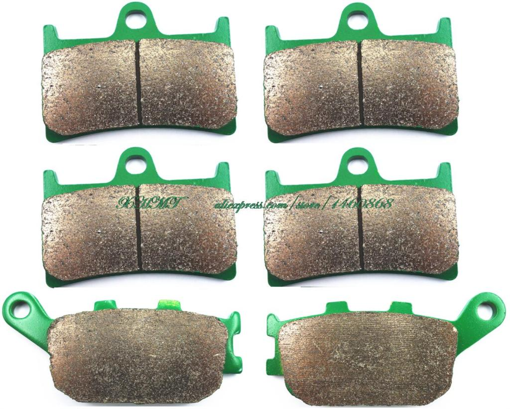 Disc Brake Pads Set for YAMAHA YZF600 YZFR6 YZF-R6 YZF 600 R6 2003 2004 2005 2006 2007 2008 2009 2010 2011 2012 2013 2014 2015 motorcycle rear brake discs rotor for yamaha yzfr1 2003 2004 2005 2006 2007 2008 2009 2010 2011 2012 2013 yzfr6 2003 2012 black