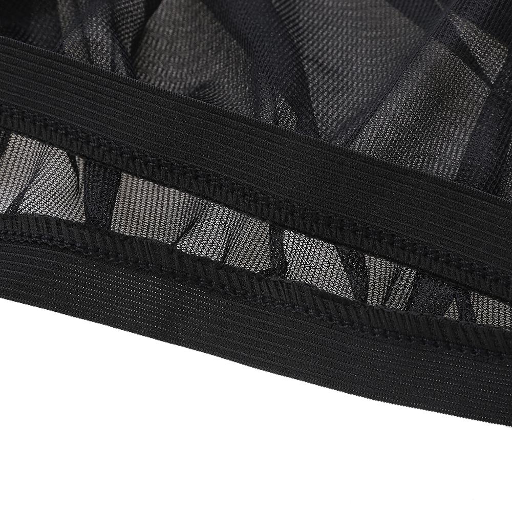 2Pcs Car Sun Visor Rear Side Window Sun Shade Mesh Fabric Sun Visor Shade Cover Shield UV Protector Black Auto Sunshade Curtain 7