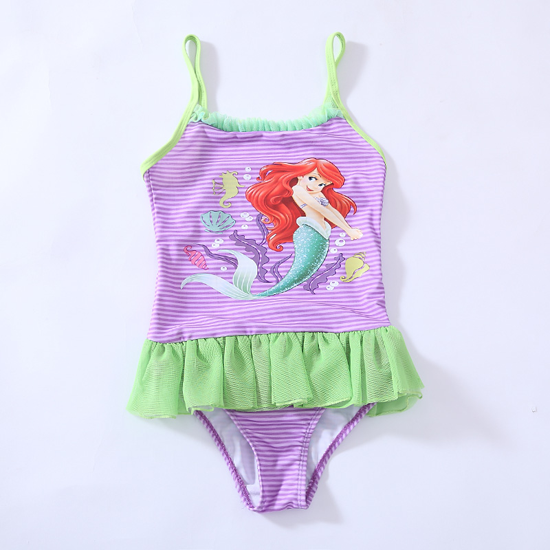 Retail Girls Mermaid One-Piece Swimsuit for children beach wear bathing suit summer UPF 50+ for 3-10 Year RT86