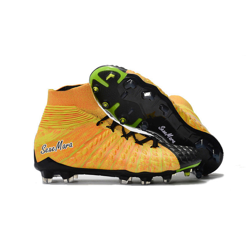 f52a2c4f24b Soccer Shoes For Men High Ankle Soccer Cleats Original Hypervenom Phantom  III 3 DF FG Football Boots Zapatos Futbol Profissional-in Soccer Shoes from  Sports ...