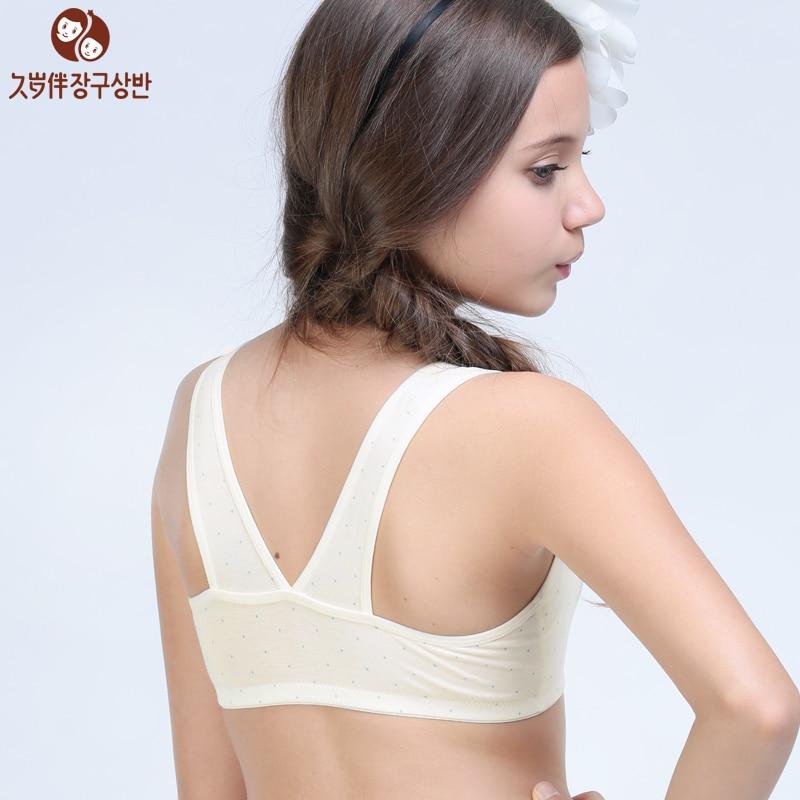 Online Shop Young Girl Wireless Underwear Girls Small Bra Kids ...