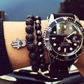 Fashion Luxury Mens & Womens Bracelets Volcanic Rocks Stone Stretch Fatima Hamsa Hand Bracelet Of Mala Evil Eye Bracelets