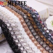 цены на 2Yards Pearl Beaded Lace Trim Mesh Lace Ribbon Fabric Clothes Decoration Wedding Dress Collar Sleeve Lace Applique DIY Crafts  в интернет-магазинах