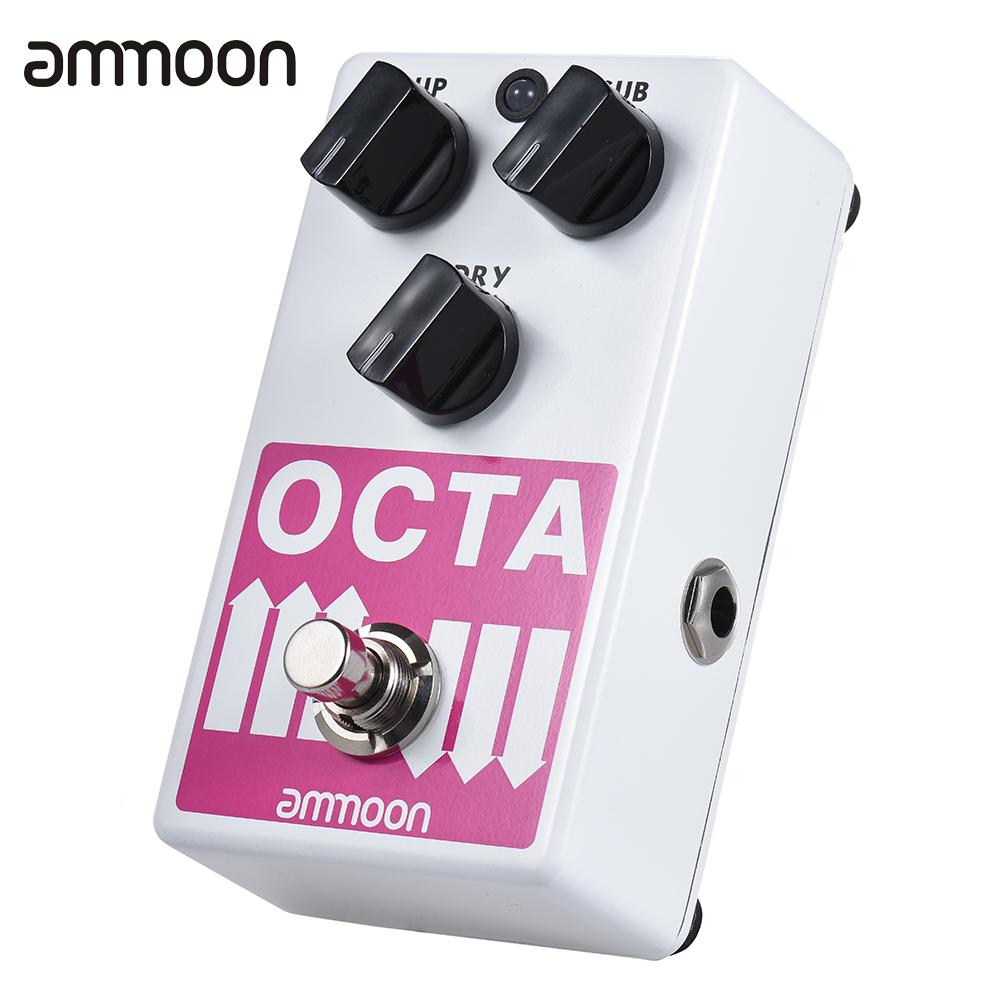 ammoon OCTA Electric Guitar Pedal Precise Polyphonic Octave Generator Effect Pedal Supports SUB/ UP Octave & Dry Signalammoon OCTA Electric Guitar Pedal Precise Polyphonic Octave Generator Effect Pedal Supports SUB/ UP Octave & Dry Signal