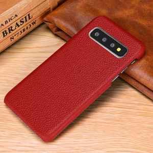 Image 5 - Sprawa dla Samsung Galaxy S10 S8 S9 Plus S10e skórzany pokrowiec luksusowe liczi Fundas pokrywa dla Samsung S10 S9 S8 Plus przypadki