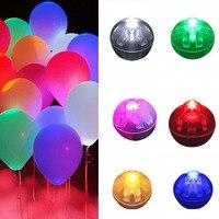 100ชิ้น/ล็อตรอบลูกบอลลูนไฟLedมินิโคมไฟแฟลชสำหรับโคมไฟคริสมาสต์งานแต่งงานตกแต่