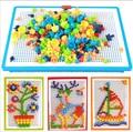 2016 Hot Venda Criativa Enigma Toy Presentes Crianças Composto Prego Imagem Kit de Puzzle Mosaico Criativo Cogumelo Prego