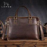 Men Briefcase Genuine Leather Bag Men Handbag Male Messenger Bag Small Ipad Holder Flap New Briefcases Leather Shoulder Bags