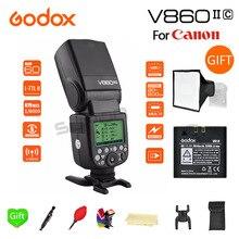 Godox TTL flash v860ii-c HSS 1/8000 s Li-на Батарея Вспышка Speedlite для Canon 5D3 5D2 7D mark II 6D 70d 60D T3i T5i T6