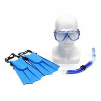Snorkel Mask Scuba Goggles Breathing Tube Webbed Feet Swimming Diving Set For Kids Children
