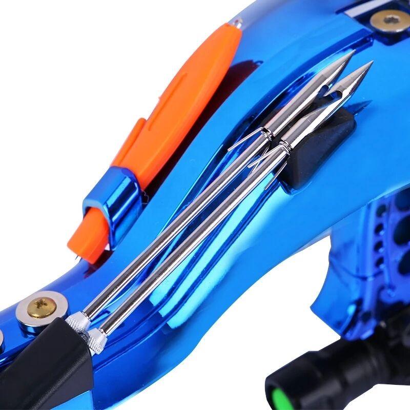 Professional Hunting Fishing Sling Bow Wrist Slingshot With Fishing Wheel Laser slingshot Night Hunting Fishing Catapult Tools - 5