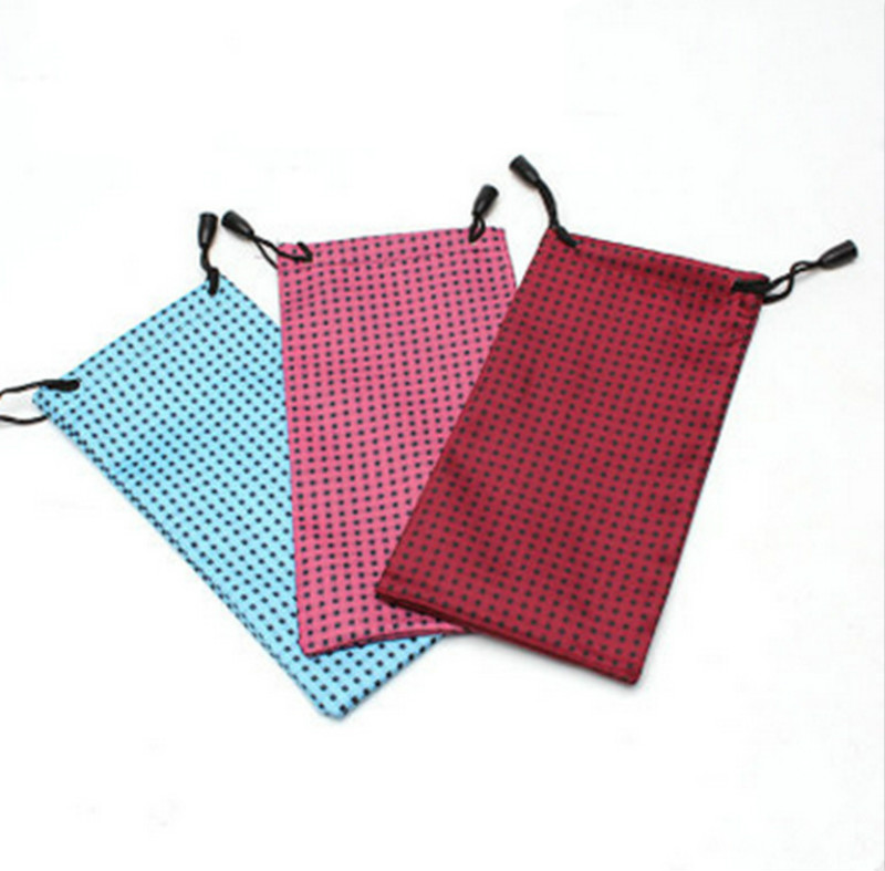 Image 2 - 100 pcs/lot DIY Watch Phone Glasses Case Soft Waterproof Cloth Sunglasses Bag Glasses Pouch Eyeglasses Cases Mixed ColorsEyewear Accessories   -