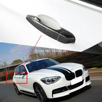 Rear Carbon Fiber Door Handle Bar Cover Sticker Car Accessories Styling For BMW E82 E87 F20