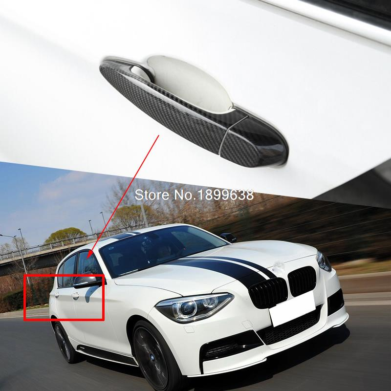 Rear Carbon Fiber Door Handle Bar Cover sticker car accessories styling For BMW E82 E87 F20 F21120i 125i M135i 116i 2007-2016 car styling top mount hardtop rear grab handle bar front rear interior parts metal for jeep wrangler 2007 later