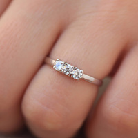 Round Cut 0 6ctw 3 5mm F Color Lab Grown Moissanites Diamond Engagement Ring Wedding Band