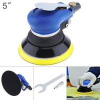 5 Inch Non vacuum Matte Surface Pneumatic Polisher Machine Random Orbital with Sander Pad for Cars Polishing Grinding Waxing