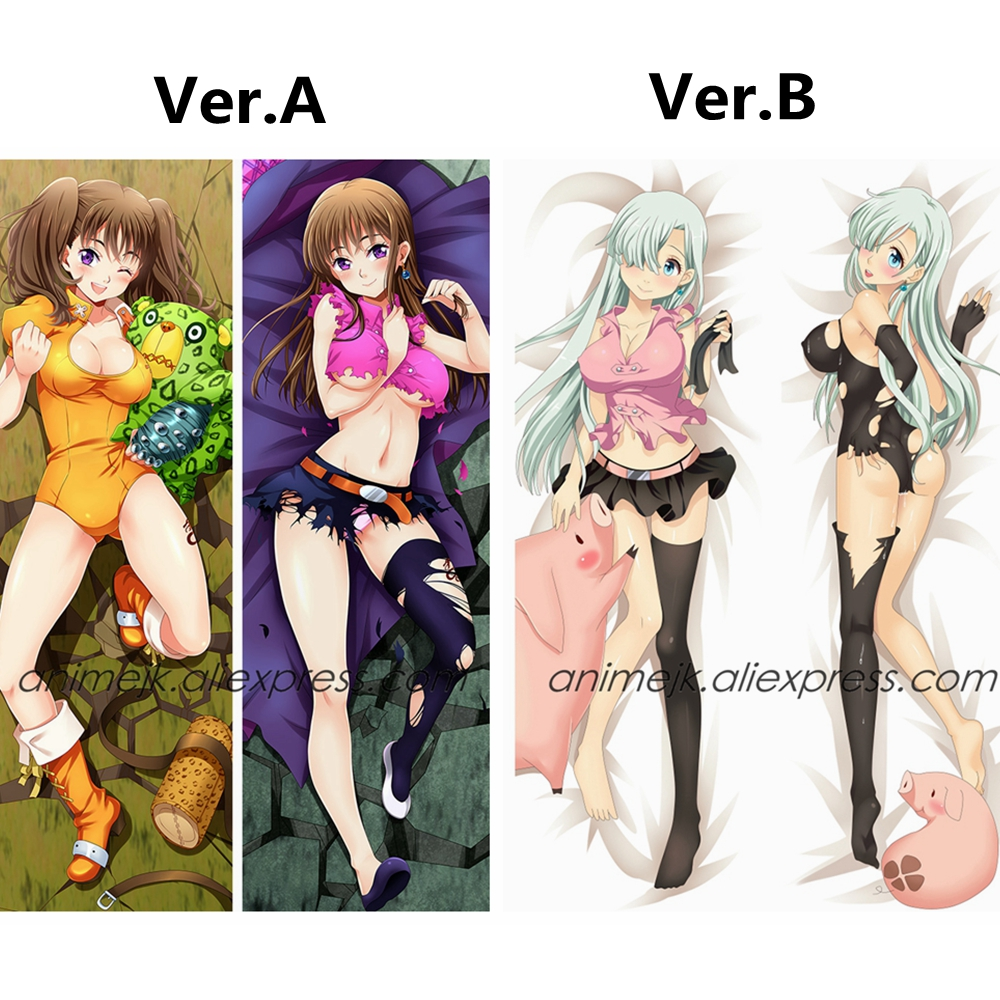 Anime Nanatsu No Taizai The Seven Deadly Sins Elizabeth Liones Hawk Diane Dakimakura Body Pillowcase Pillow Cover Case