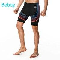 Beboy Quick Dry Striped Jogging Running Shorts Men Athletic Compression Tights Shorts High Elastic Basketball Trainning