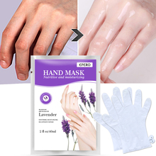 2pcs/1pair Lavender Baby Hand Mask Cream Moisturizing Whitening Hand Spa Gloves Dead Skin Remover Hand Spa Skin Care TSLM1