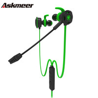 Askmeer In Ear Gaming Earphones Best Stereo Sports Headset Casque With Microphone Mic For Mobile Phone