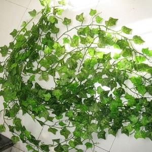 Image 2 - 12PCS 2.4M ดอกไม้ประดิษฐ์ Ivy Leaf Garland พืช Vine Fake Foliage ดอกไม้บ้านตกแต่งพลาสติกประดิษฐ์ดอกไม้หวาย Evergreen